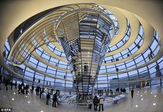 The stunning clear dome of Berlin's Reichstag The futuristic-looking structure above isn't something you'd immediately expect to find in an old building like the Reichstag. However, this glass dome is indeed a part of the 19th-century landmark; it was added to the structure in 1999. Visitors to the dome can enjoy 360-degree views of the area, providing they register in advance.
