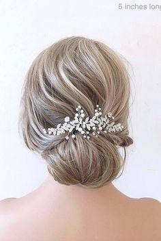 Boho Bridal Hair, Bridal Hair Vine, Pearl Bridal, Boho Wedding, Star Wedding, Wedding Veil, Wedding Flowers, Wedding Hair Clips, Wedding Hair Pieces