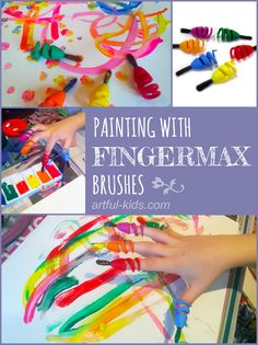 Fingerpainting with a Difference! : Artful Adventures