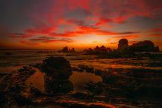 Sunset at Corona del Mar Beach - null