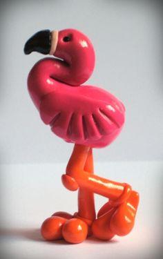 Fallon The Flamingo Polymer Clay Sculpt