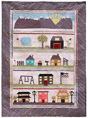 Around the Neighborhood Quilt Pattern-  like the idea of how the swing set was made -could be used in another quilt