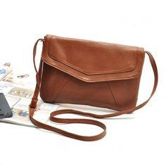 Fashion Women Messenger Bag PU Leather Cross Satchel Shoulder Handbag