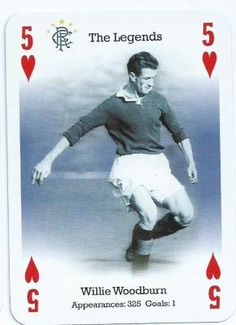 Willie Woodburn of Rangers in 1953. Rangers Football, Rangers Fc, Football Pictures, Breaking Bad, Glasgow, Bears, Legends, Club, Baseball Cards