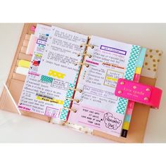 Image about cute in Agendas📝📒💡 by Andressa Stuart Cute Planner, Happy Planner, Organized Planner, Planner Book, Room Planner, Planner Ideas, Washi Tape, Planer Organisation, Agenda Organization