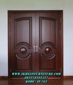 these double doors will be perfect for the closet! House Main Door Design, Wooden Main Door Design, Double Door Design, Door Design Interior, Double Front Doors, Modern Front Door, Wood Front Doors, Solid Doors, Wooden Glass Door