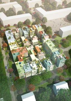 Suíça projeta bloco residencial que mistura centro e subúrbio.