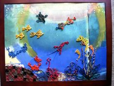 Sea Animals Fantasy-Quilling by eidatwong.deviantart.com on @deviantART