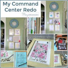 Mary ORGANIZES Command Center Drop Zone, Staying Organized, Gallery Wall, Mary, Organization, Home Decor, Getting Organized, Organisation, Decoration Home