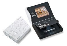 Leuchtmittelverpackung mit aufwendigem Innenleben • Das Bild im Deckel der Innenbox verändert sich durch Ziehen an der Lasche und demonstriert die Wirkung von richtig eingesetzter Beleuchtung • #Dinkhauser Kartonagen GmbH