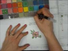This one colors it with the q tip then goes over it in the same colors using the blender pen to pick up the color from the chalk square.To finish, she uses the pen to pick up ink pressed onto the lid of the inkpad to make a pale blue line around the whole thing.▶ Colouring With Chalks and Blender Pens - YouTube