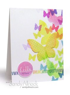 """Butterfly cards - a whole kaleidoscope! 