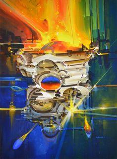 moonzerotwo: Boiling Globe - John Berkey