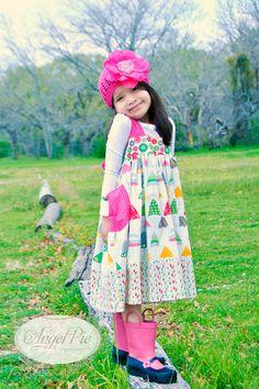 Little Girls Dress Big Bows and Pockets