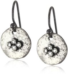 "Avindy Jewelry ""Wish Drops"" Four Diamonds on Hammered Circle Earrings -- Read more reviews of the product by visiting the link on the image."