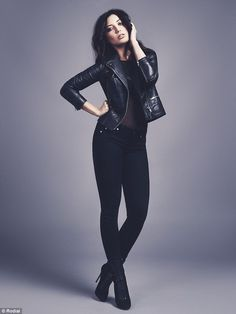 Daisy Lowe, 26, is the ultimate rock chick as she rocks leather and heavy eye make-up in her new beauty shoot for Rodial