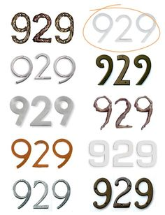 House Numbers round-up