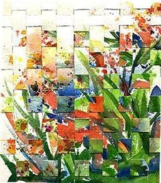 Flower Weaving - by Ulrike 'Ricky' Martin from Collage Art Gallery Paper Weaving, Weaving Art, Tapestry Weaving, Weaving Projects, Art Projects, Paper Collage Art, Art Textile, Arte Pop, Art Plastique