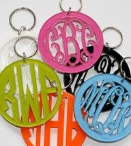 monnogramed keychains for backpacks