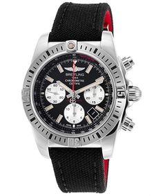 Shop for Breitling Men's 'Chronomat 44 Airborne' Chronograph Automatic Black Canvas Watch. Get free delivery On EVERYTHING* Overstock - Your Online Watches Store! Breitling Chronomat, Breitling Watches, Rolex, Cool Pictures, Cool Photos, Herren Chronograph, Swiss Luxury Watches, Armani Watches, Online Watch Store