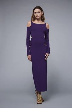 Woven run-stitch midi dress Dresses Roberto Cavalli