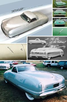 Chrysler built five variations on its Thunderbolt theme. Revolutionary for 1940, the five Thunderbolts sported sleek styling at least 10 years ahead of its time. Four of the original Thunderbolts survive; one (above, bottom) being owned by Tonight Show host Jay Leno.