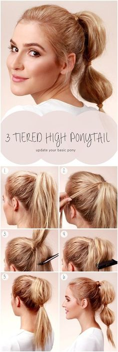 10 Ways to Make Cute Everyday Hairstyles Long Hair Tutorials - PoPular Haircuts Cute Everyday Hairstyles, Ponytail Hairstyles Tutorial, Diy Hairstyles, Pretty Hairstyles, Hairstyle Tutorials, Easy Hairstyle, Hairstyle Ideas, Casual Hairstyles, Evening Hairstyles