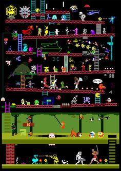 Do you love arcade games from the '80s? This illustration has 50 of them on it. Can you guess them all? If so, you get the retro geek award.