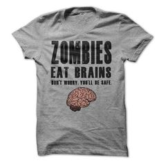 Zombies Eat Brains T Shirts, Hoodie. Shopping Online Now ==► https://www.sunfrog.com/Zombies/Zombies-Eat-Brains.html?41382