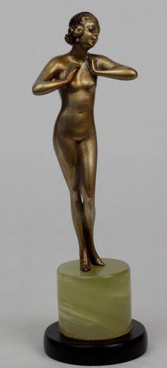An art deco bronze figure by Josef Lorenzl circa 1930.