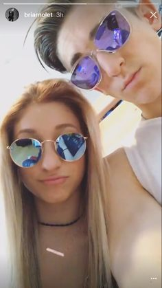 Briar and Myles Boy And Girl Best Friends, Briar Nolet, Meg Donnelly, Childhood Tv Shows, The Next Step, Bffs, Youtubers, Famous People, Sunglasses Women