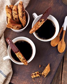 Steam up your favorite nondairy milk and dunk away these vegan Chocolate Chip Almond Biscotti anytime of the day, even at breakfast.