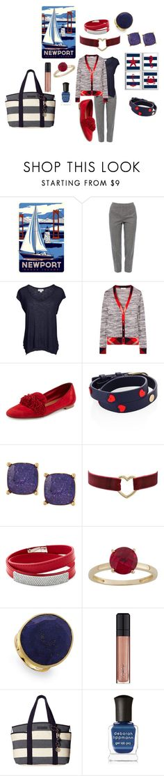 """""""nautic"""" by erggoe ❤ liked on Polyvore featuring Piazza Sempione, Velvet by Graham & Spencer, Tory Burch, Aquazzura, Lydell NYC, Swarovski, Marco Bicego, L'Oréal Paris, Tommy Hilfiger and Deborah Lippmann"""