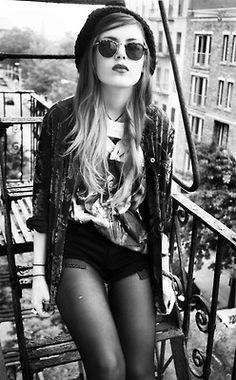 Black and White fashion Model Grunge edits2 dip dye grunge fashion grunge style