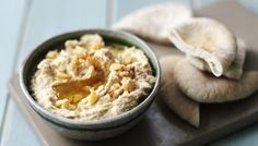 Quick hummus - extra clove garlic and tbsp lemon no tahini/oil.delicious and fat free Bbc Good Food Recipes, Dip Recipes, Cooking Recipes, Yummy Food, Blender Recipes, Food Tips, Tostadas, Quick Hummus Recipe, Humus Recipe