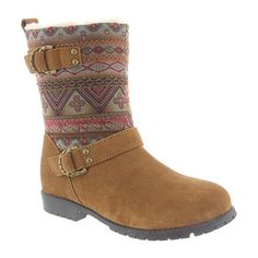 <p>It's the only print you'll need with any solid or color block outfit. The Rebecca boot is made with a cow suede upper and a printed wool shaft. Bearpaw® branded double D-ring and rivet detail.</p>