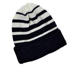 f6aabb01685 Winter Urban Pipeline Black White Reversible Striped Men Women Beanie Knit  Beanie