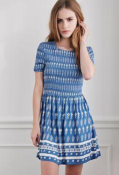 Smocked Southwestern Print Dress | Forever 21 - 2000053948