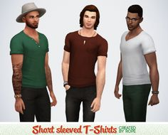 Un Sims au bout du fil. - simsontherope: Three Short-Sleeved T-shirts for...