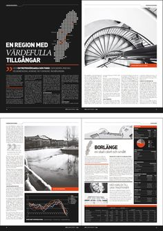 Nice minimalist design. Achieved aesthetic balance in the spread while breaking up the text.