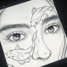 art sketchbook Art gallery online on Instagra - art Pencil Art Drawings, Art Drawings Sketches, Sketch Art, Drawings Of Love, Drawings Of Faces, Drawings Of People, Sketches Of Love, Sketches Of People, Girl Pencil Drawing