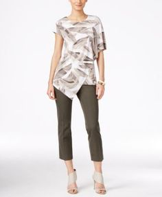 Alfani Asymmetrical Blouse & Capri Pants, Only at Macy's  | macys.com