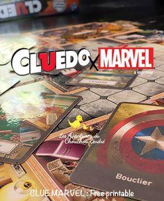 Cluedo Marvel / Clue Marvel Star Lord, Tony Stark, Black Widow, Hulk, Thor, Cluedo, Spiderman, Free Printables, Avengers