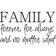 No matter what gets in the way and tries to pull a family apart, it always important to remember that it is a bond that should be unbreakable!