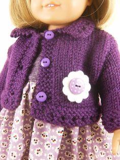 18 Inch Doll Clothes American Girl Purple Hand by dressurdolly2, $30.00