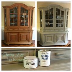 China Cabinet Chalk Paint Makeover8