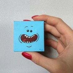 Mr. Meeseeks Tiny Painting Rick And Morty Rick And by MLpaintings