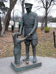 Winnipeg Manitoba. This is a statue commemorating 'Winnie-the-Pooh'...actually the original brown bear, from Winnipeg who inspired A.A.Milne to create the famous character. Should I also add the true story that I was born in Winnipeg and I married Christopher Robins? :-)
