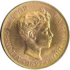 Moneda de oro 100 Pesetas Alfonso XIII 1897*62 SG-V.