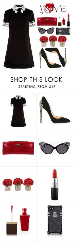 """""""Love ❤️"""" by hessa-46 ❤ liked on Polyvore featuring macgraw, Cerasella Milano, Hermès, Dsquared2, The French Bee, MAC Cosmetics and Tom Ford"""